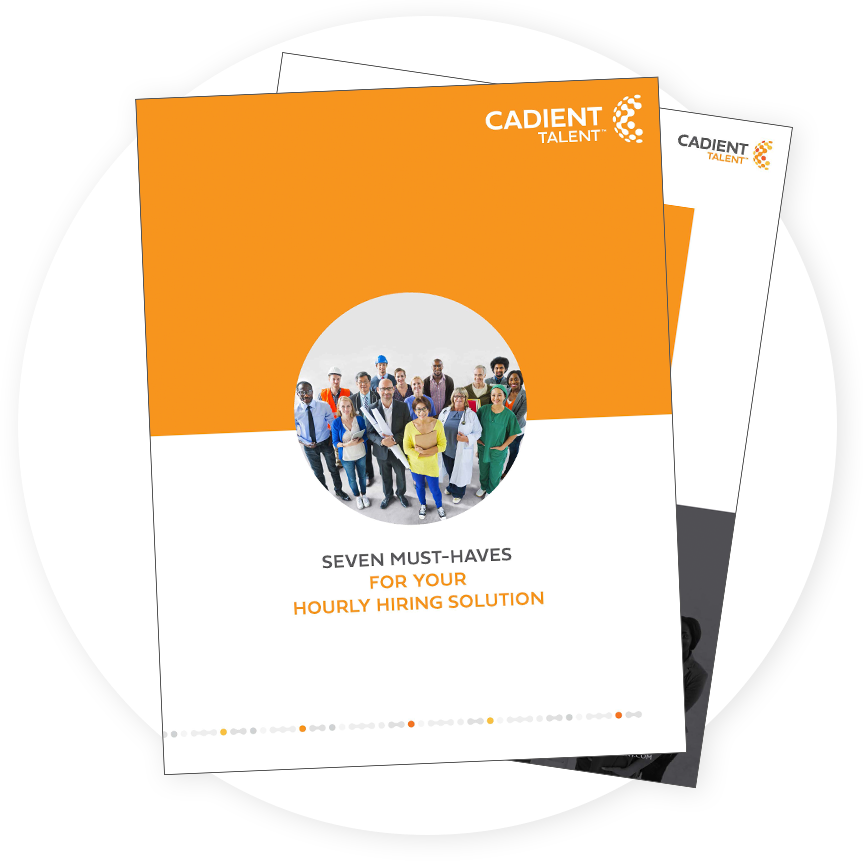 The cover of the seven must-haves for your hourly hiring solutions report